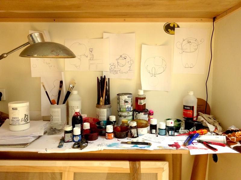 Atelier de jeremie baldocchi en ce moment artiste - Atelier artiste peintre ...