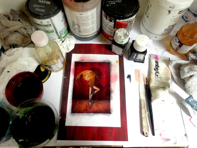 Atelier d'artiste du peintre contemporain Jérémie Baldocchi, de 2013 à aujourd'hui