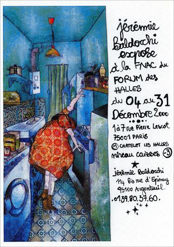 Exposition personnelle: Fnac Forum des Halles – Paris du 04 au 31 Decembre 2000
