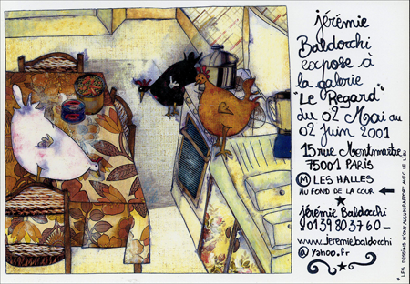 Exposition personnelle: Galerie Le Regard – Paris du 02 Mai au 02 Juin 2001