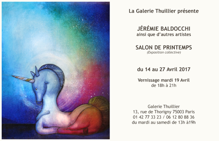 Exposition collective: Galerie Thuillier – Paris du 14 au 27 Avril 2017