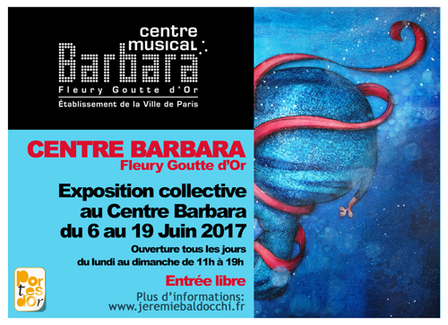 Exposition collective: Centre Barbara – Paris du 06 au 19 Juin 2017