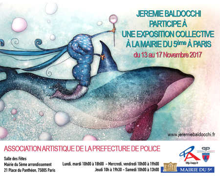 Exposition collective: Mairie du 5ème – Paris du 13 au 17 Novembre 2017