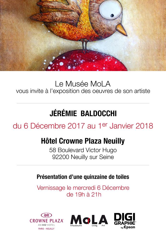 Exposition personnelle: Hôtel Crowne Plaza Paris du 06 au 31 Décembre 2017