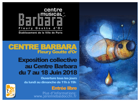 Exposition collective: Centre Barbara – Paris du 7 au 18 Juin 2018