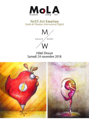 Exposition collective: Vente aux enchères à l'hôtel des ventes Drouot le 24 Novembre 2018