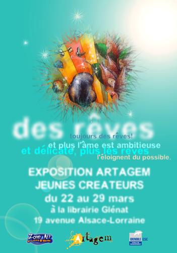 Exposition collective: Librairie Glénat – Grenoble du 14 au 21 Mars 2008