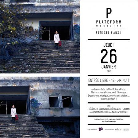 Exposition collective: Anniversaire 3 ans Plateform magazine – Paris du 26 Janvier au 12 Fevrier 2012