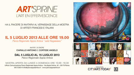 Exposition collective: Salon Art'spirine – Rome – Italie du 05 au 15 Juillet 2013