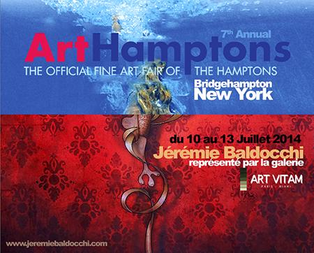 Exposition collective: Foire ArtHamptons Art Fairs – Bridgehampton – New York du 10 au 13 Juillet 2014