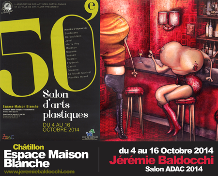 Exposition collective: Salon ADAC – Châtillon – France du 04 au 16 Octobre 2014