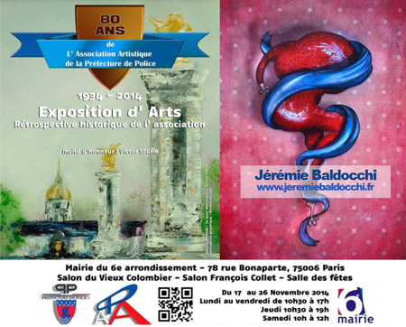 Exposition collective: Mairie du 6ème – Paris du 17 au 26 Novembre 2014