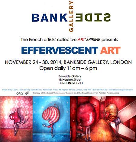 Exposition collective: Bankside Gallery – Londres – Angleterre du 24 au 30 Novembre 2014