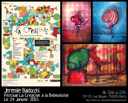 Exposition collective: Festival La Creatiive – Paris Le 24 Janvier 2015