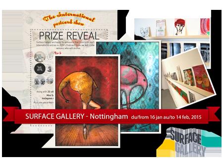 Exposition collective: Surface Gallery Nottingham – Angleterre du 16 Janvier au 14 Fevrier 2015