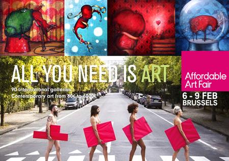 Exposition collective: Foire Affordable Art Fair – Bruxelles – Belgique du 05 au 09 Fevrier 2015