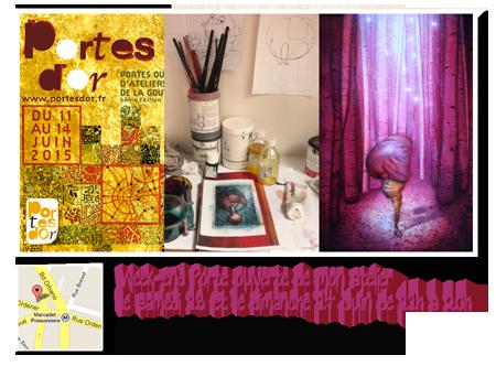 Exposition personnelle: Atelier portes ouvertes de la Goutte d'Or 2015 – Paris les 13 et 14 Juin 2015