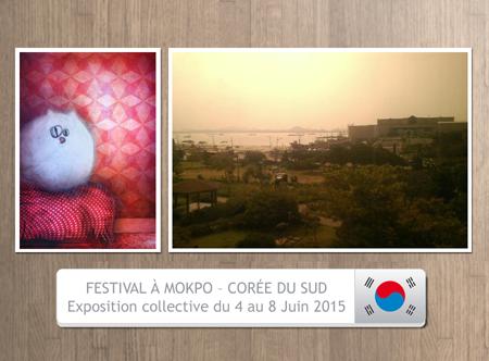 Exposition collective: Festival à Mokpo – Corée du Sud du 4 au 8 Juin 2015