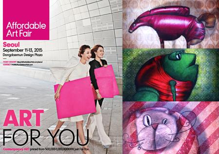 Exposition collective: Foire Affordable Art Fair – Seoul – Corée du Sud du 11 au 13 Septembre 2015