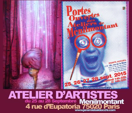 Exposition collective: Avec les artistes de Ménilmontant – Paris du 25 au 28 Septembre 2015