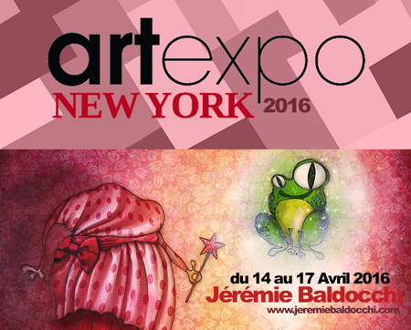 Exposition collective: Salon ArtExpo New-York – USA du 14 au 17 Avril 2016