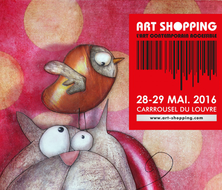 Exposition collective: Salon Art Shopping – Paris les 28 et 29 Mai 2016