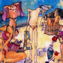 Peinture:À la plage