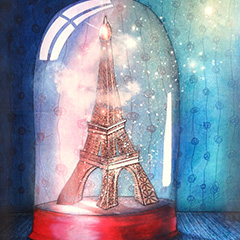 Peinture: Paris sous cloche