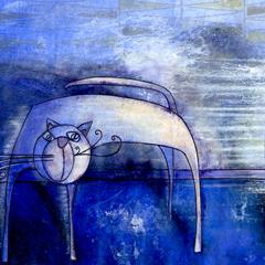 Peinture:Chat ventillé