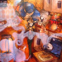 Peinture:Tarte au citrons meringué Essai n°1