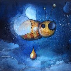 Peinture:Abeille de nuit