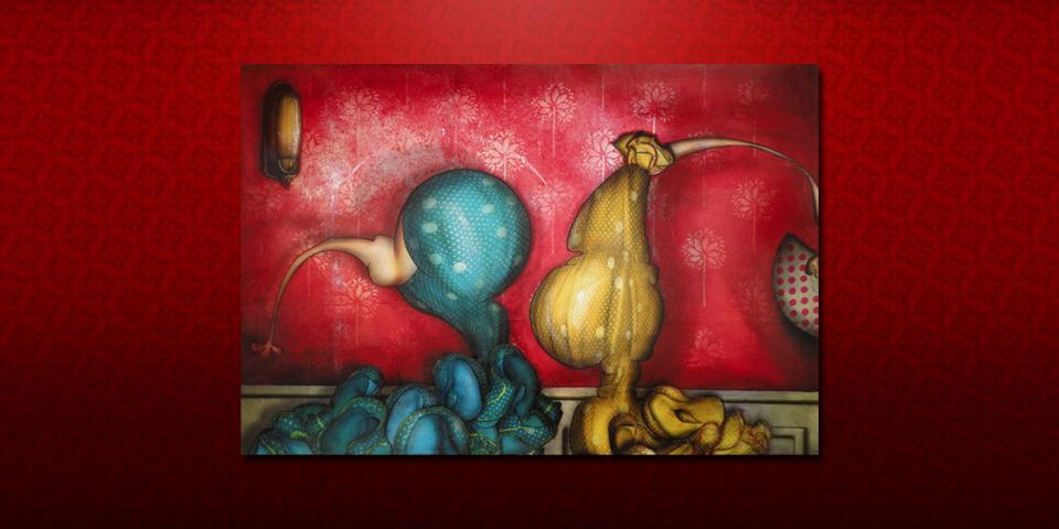 peinture deux s u00e9villanes de jeremie baldocchi
