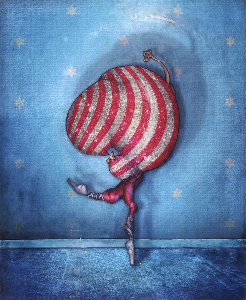 peinture danseuse de jeremie baldocchi