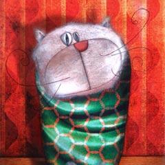Peinture:Chat de Soirée