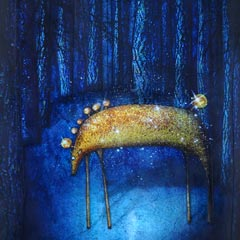 Peinture: Cheval de nuit