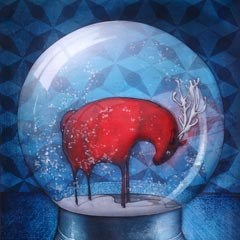 Peinture: Boule de neige