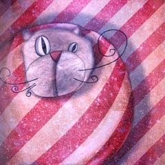 Peinture:Chat emballé