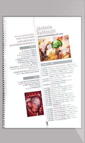 CV artistique de l'artiste peintre Jeremie Baldocchi en Anglais au format PDF
