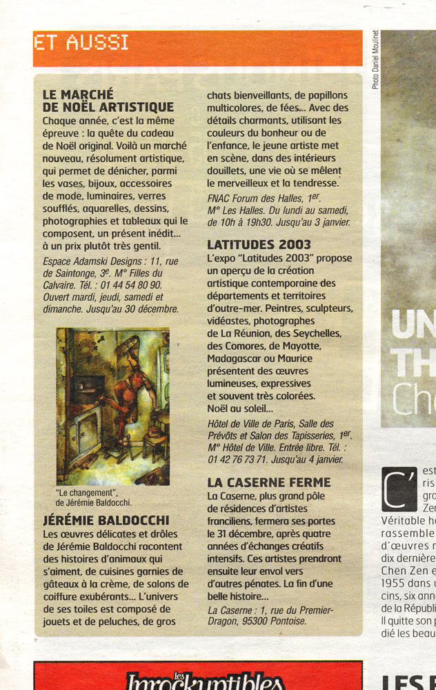 Article presse journal A nous Paris