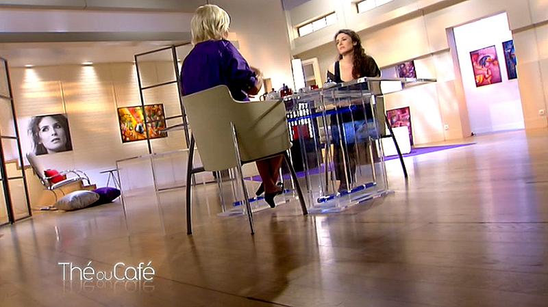 Tableaux du peintre contemporain à la télévision sur France 2