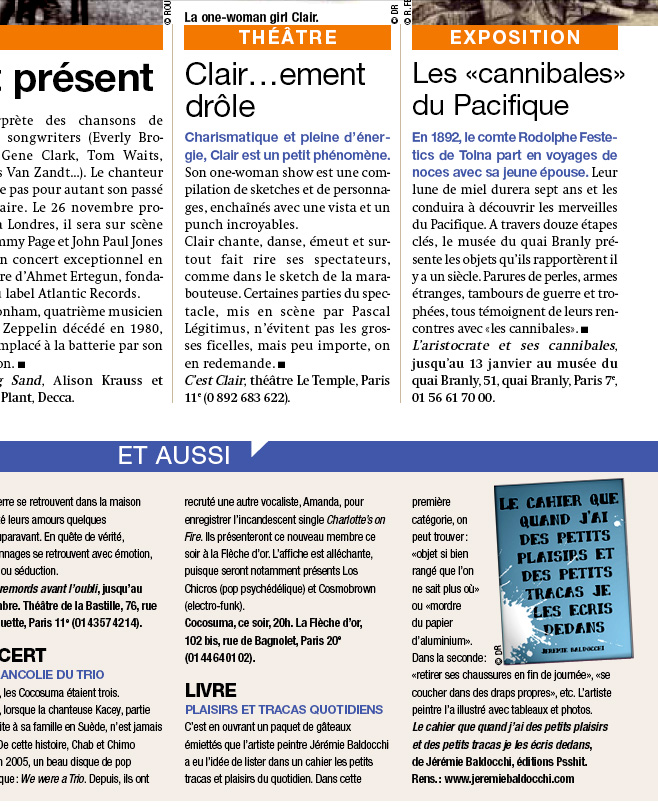 Article de presse Journal Matin plus