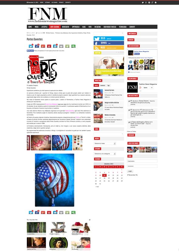 Site Italien Fashion News Magazine