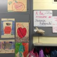 Des élèves d'une classe du Québec reproduisent mes peintures