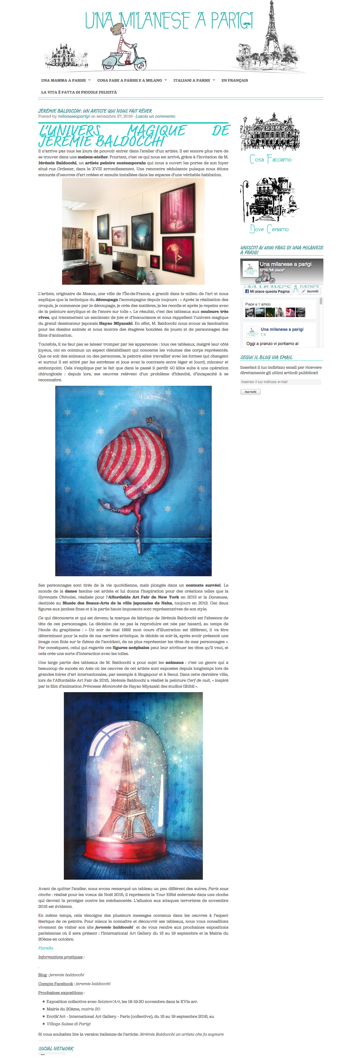 2016-06 Article par Fiorella Palmieri pour blog Una Milanese a Parigi