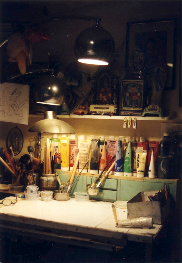 Atelier d'artiste du peintre contemporain Jérémie Baldocchi, de 1998 à 2003
