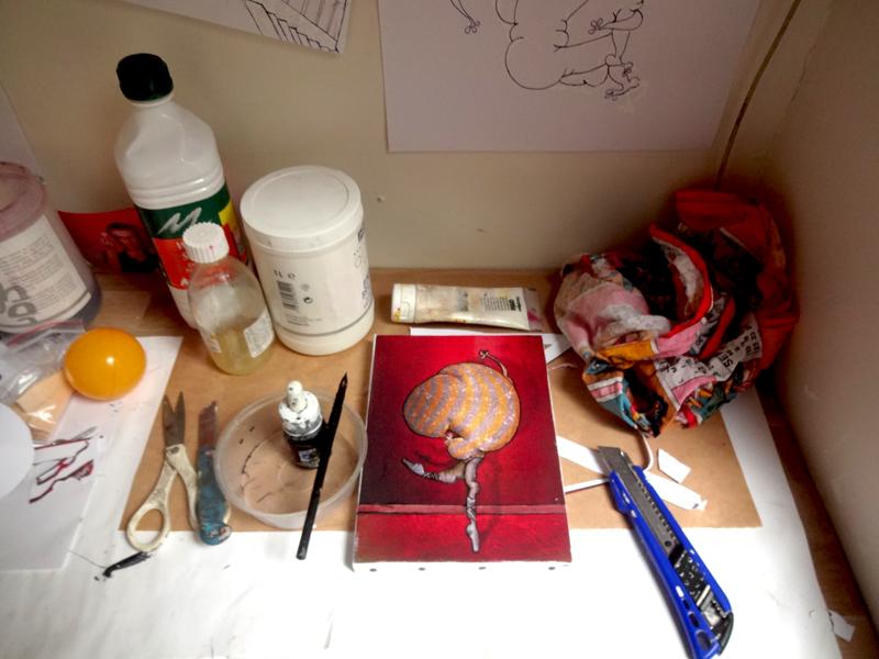 Atelier d'artiste du peintre contemporain Jérémie Baldocchi, de 2013 à 2019