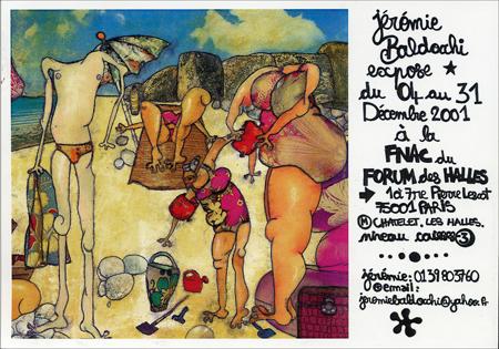 Exposition personnelle: Fnac Forum des Halles – Paris du 04 au 31 Decembre 2001