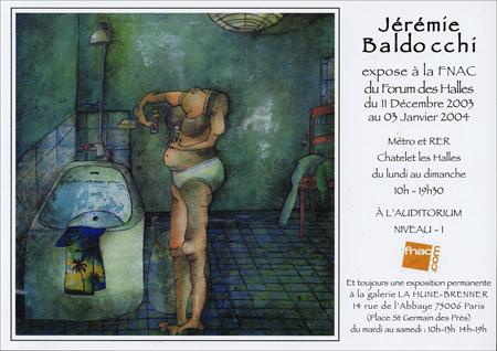 Exposition personnelle: Fnac Forum des Halles – Paris du 11 Decembre au 03 Janvier 2004