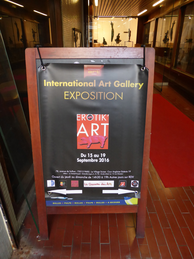 Exposition collective Erotik'Art – International Art Gallery – Paris du 15 au 19 Septembre 2016