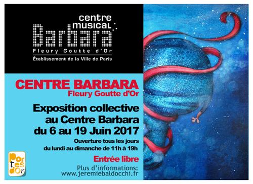 Exposition collective: Centre Barbara – Paris du 06 au 19 Juin 2017